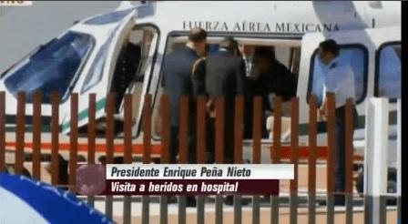 Photo of Peña Nieto y Eruviel Avila en Zumpango: Visitan a lesionados en Tultepec