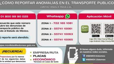 Photo of Denuncia al Transporte Público del Estado de México por WhatsApp y Aplicación móvil