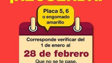 Photo of Vehículos con engomado amarillo verifican del 1 de enero al 28 de febrero