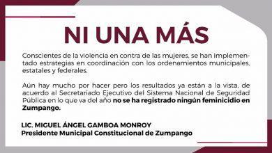 Photo of Y el gobierno de Zumpango responde: Ni un sólo feminicidio en 2019