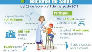 Photo of Hoy 1 de marzo concluye la Primera Semana Nacional de Salud 2019 en Zumpango