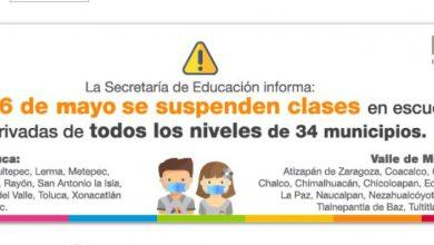 Photo of Suspenden clases en 34 municipios del Estado de México y CDMX por contaminación